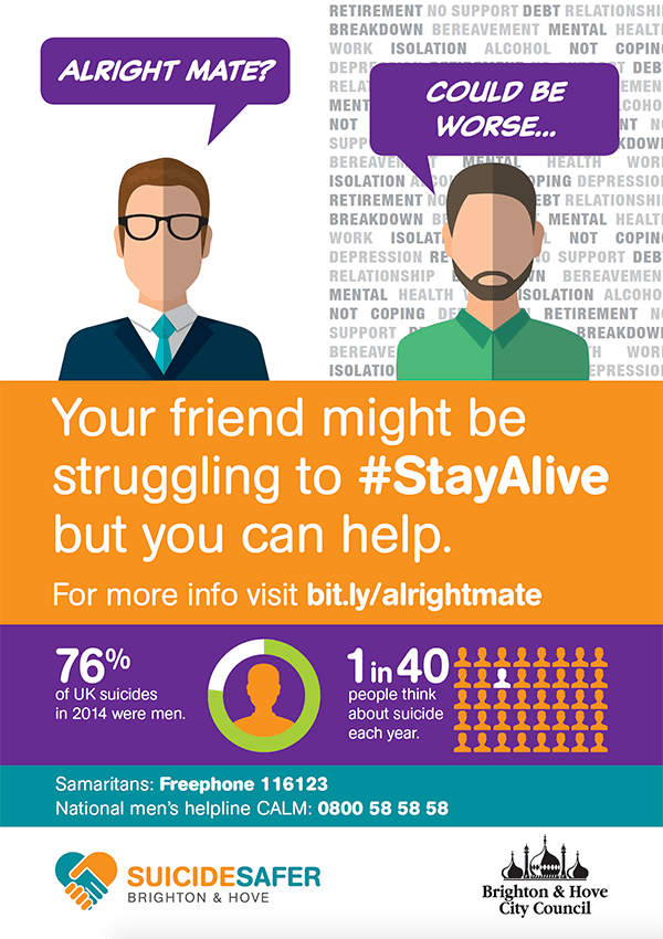 Your friend might be struggling to Stay Alive but you can help