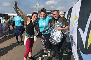 Finishing a marathon