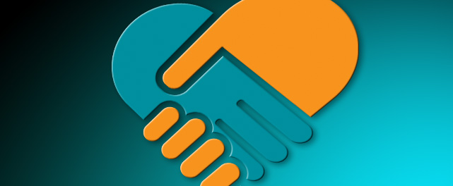 Shaking hands logo