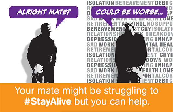 Your mate might be struggling to stay alive but you can help.