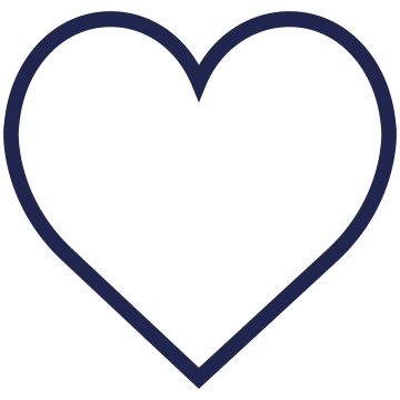 An heart-shaped icon