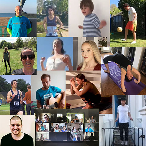 Collage of photos of people doing their 2.6 Challenge