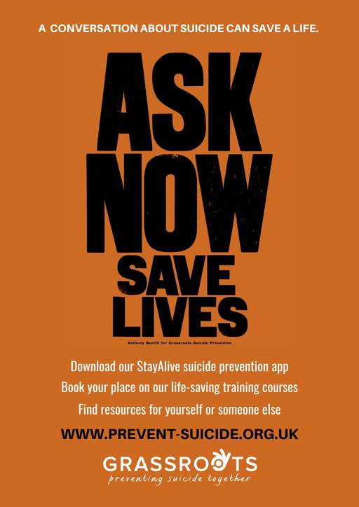 A conversation about suicide can save a live. Ask Now Save Lives: Download our Stay Alive app; Book your place on our life-saving courses; Find resources for yourself or someone else.