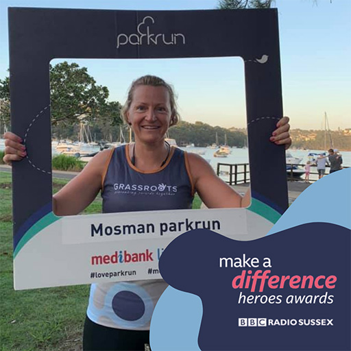 Raquel having completed Mosman parkrun.