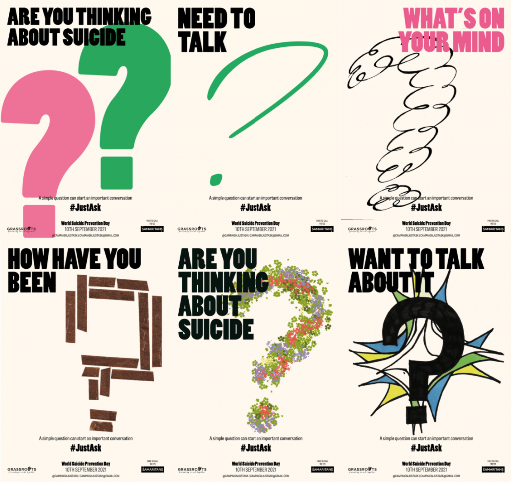 6 posters on the theme of #JustAsk